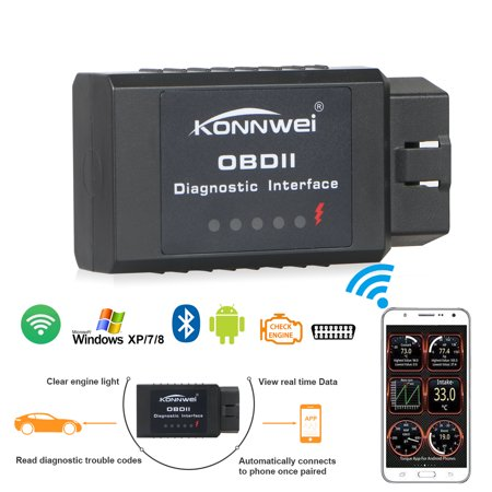 OBD2 Scanner, TSV ELM327 Bluetooth Adapter Scanner Torque Android OBD2  OBDII Code Reader Scan Too For Android phone/tablet and Windows PC