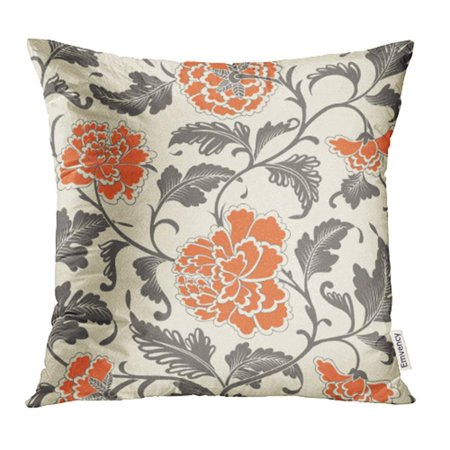 CMFUN Japanese Ornamental Colored Antique Floral Pattern Flower Chinese Oriental Pillowcase Cushion Cases 20x20 inch