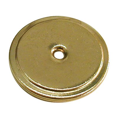 Allison Value 1-3/4 in (44m) Diameter Polished Brass Cabinet Backplate