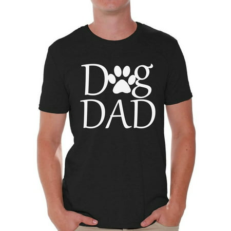 Awkward Styles Dog Dad Shirt Men's Graphic T-shirt Tops for Father Pet Loving Gift for Father`s Day Best Dad Ever T Shirt Daddy Gifts from Daughter Best Dad Gifts from Son Dog Lover Gift for
