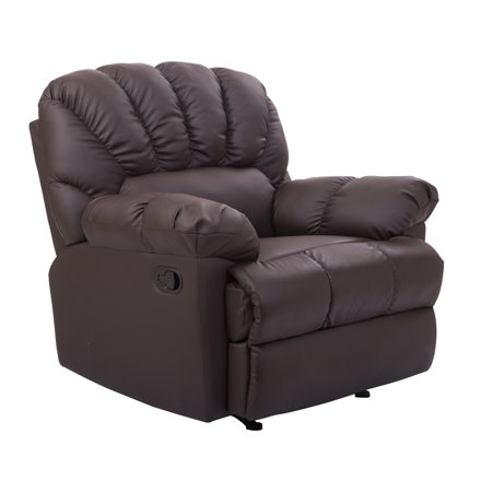 Homcom Pu Leather Rocking Sofa Chair Recliner Brown