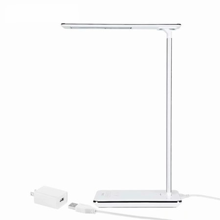 TORCHSTAR Dimmable LED Desk Lamp, 4 Lighting Modes (Reading/Studying/Relaxation/Bedtime), Desk Lamps for College with Touch Sensitive Control, USB Charging Port, 1 & 2 Hour Auto Timer, Piano White