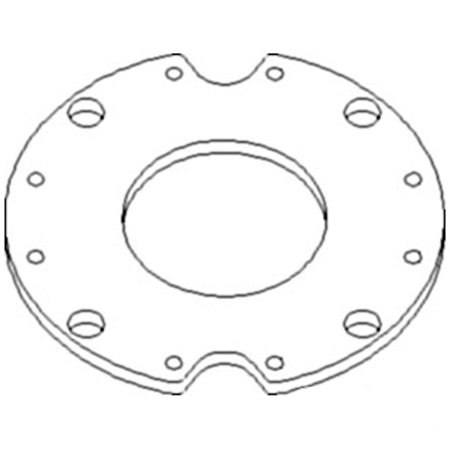398550A2 New Feeder Plate Made to fit Case-IH Combine