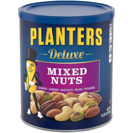 (2 Pack) Planters Deluxe Mixed Nuts,15.25 oz Canister