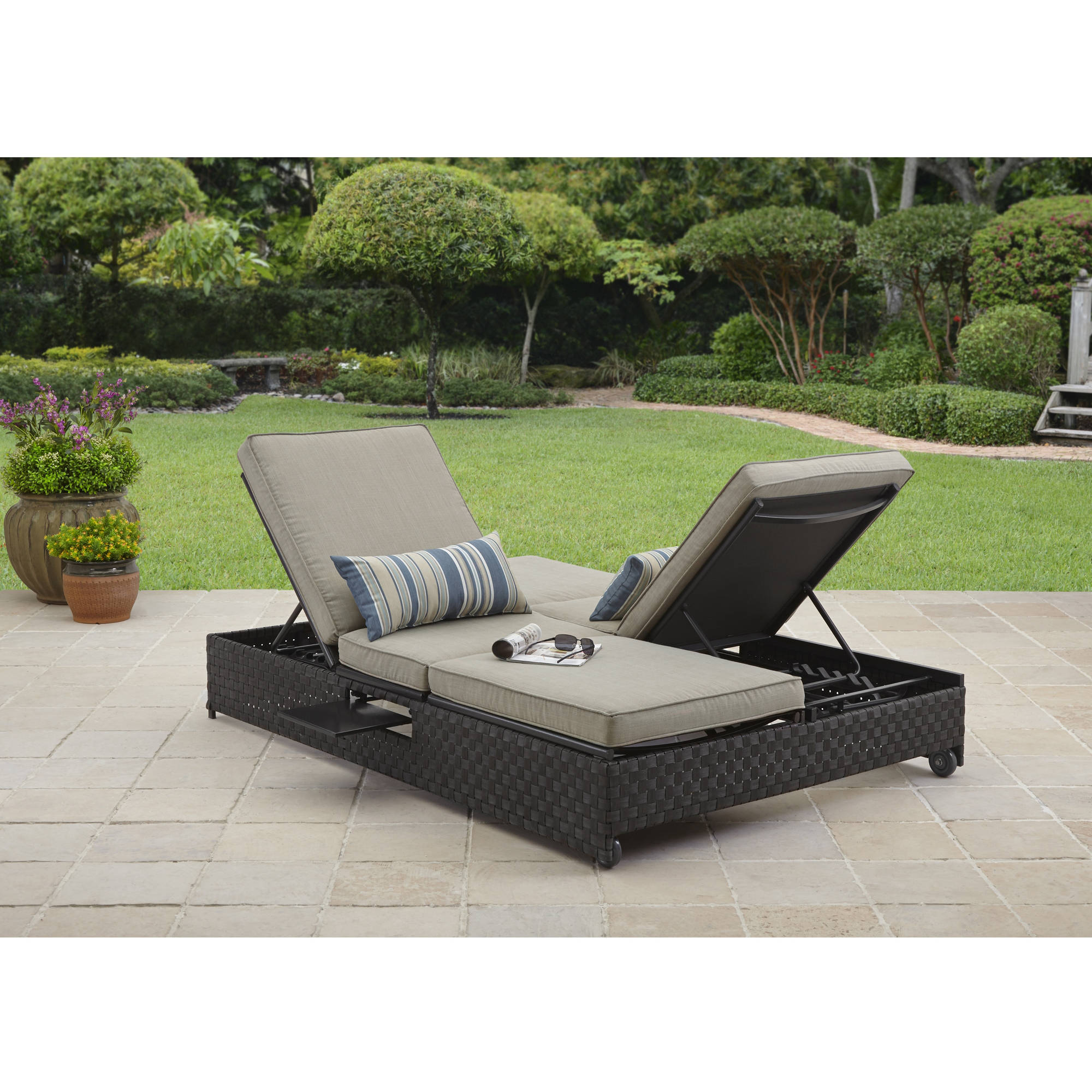 . Better Homes and Gardens Avila Beach Double Lounger Sofa   Walmart com