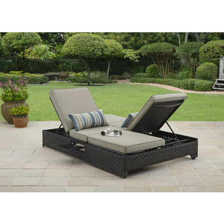Better homes and gardens avila beach double lounger sofa for Chaise lounge at walmart
