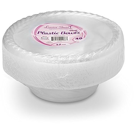 Clear plastic bowls pack of 40](Large Plastic Trifle Bowl)