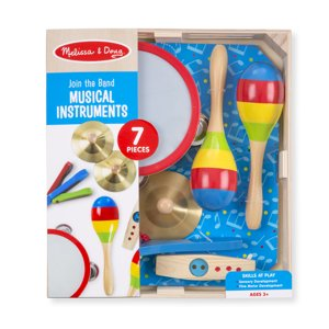 Melissa & Doug Music Makers 7-Piece Wooden Musical Instrument Set