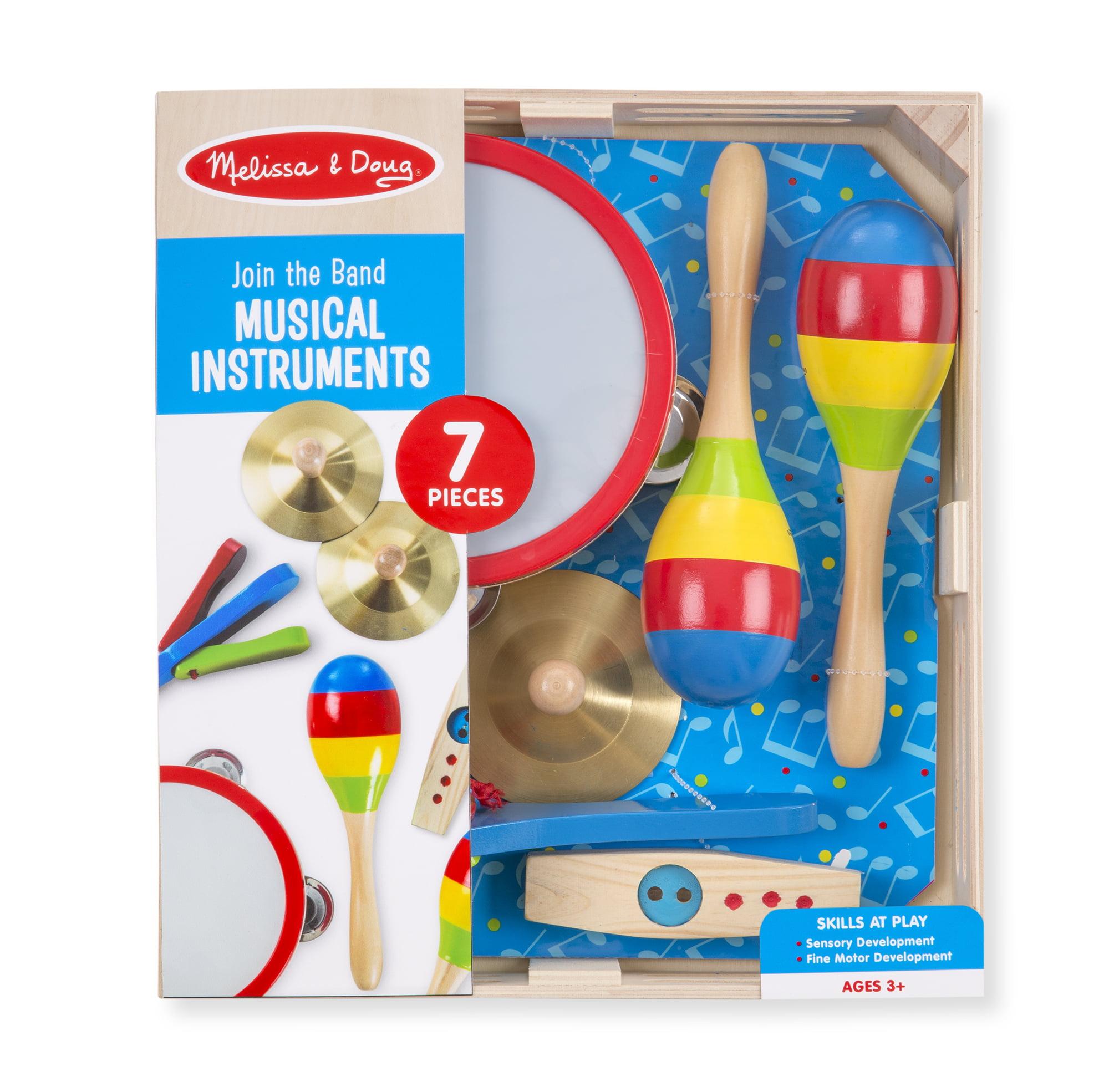 Melissa & Doug Music Makers 7-Piece Wooden Musical Instrument Set