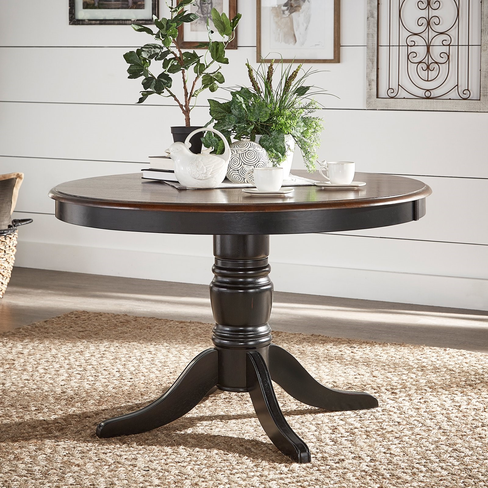 Weston Home Two Tone 48 in. Round Dining Table