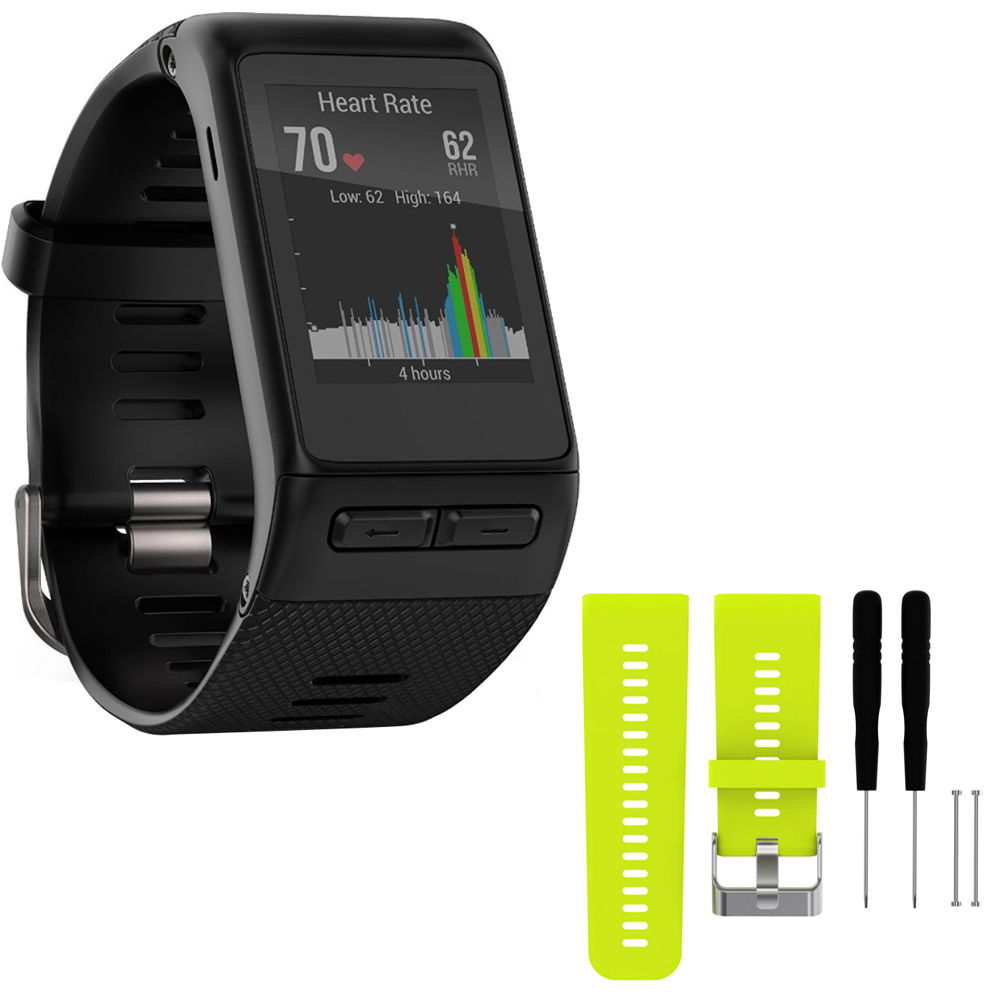 Garmin Vivoactive HR GPS Smartwatch - X-Large Fit - Black...