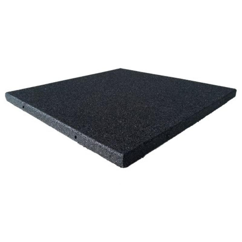 Rubber Cal Eco-Sport Floor Tile-Pack of 3, Coal, 1 x 20 x...