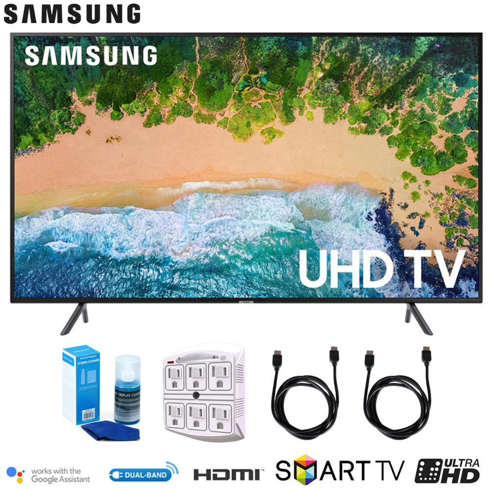 "Samsung 50NU7100 50"" NU7100 Smart 4K UHD TV (2018) with Surge Protector + Cleaning Kit (UN50NU7100)"