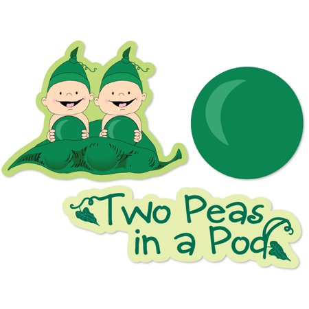Twins Two Peas in a Pod - DIY Shaped Baby Shower or Birthday Party Cut-Outs - 24 Count (Twin Baby Shower Ideas)