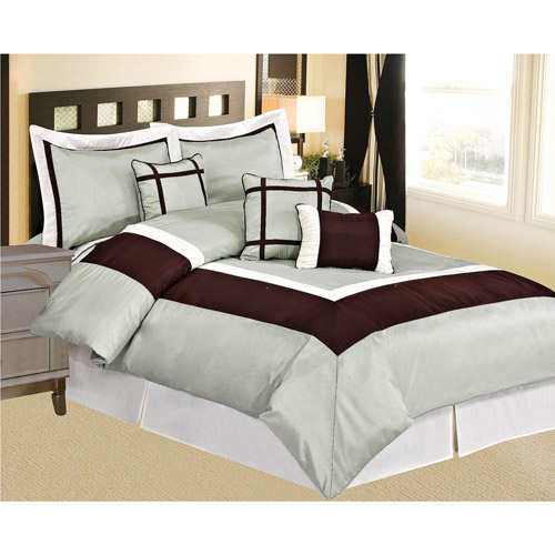 At Home Conrad 7-Piece Comforter Set, Taupe