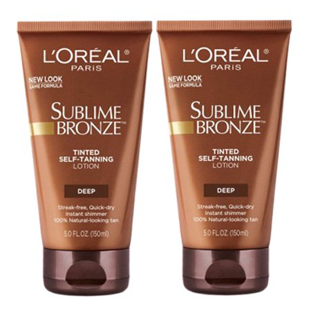 ((2 Pack) L'Oreal Paris Sublime Bronze Tinted Self-Tanning Lotion)