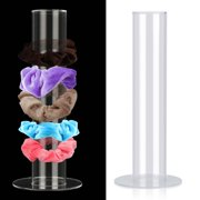 Scrunchie Holder Stand, EEEkit Clear Scrunchy Holder Organizer Scrunchies Hairband Display Stand Vertical Bracelet, Acrylic Hair Ties Hairbands Jewelry Storage T-Bar Stand for Teen Girls Women Gifts