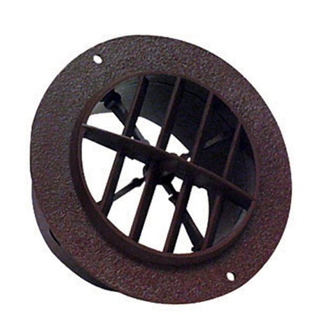 D&W INC. 3840WN Walnut 4 inch Round Ceiling Register with out -