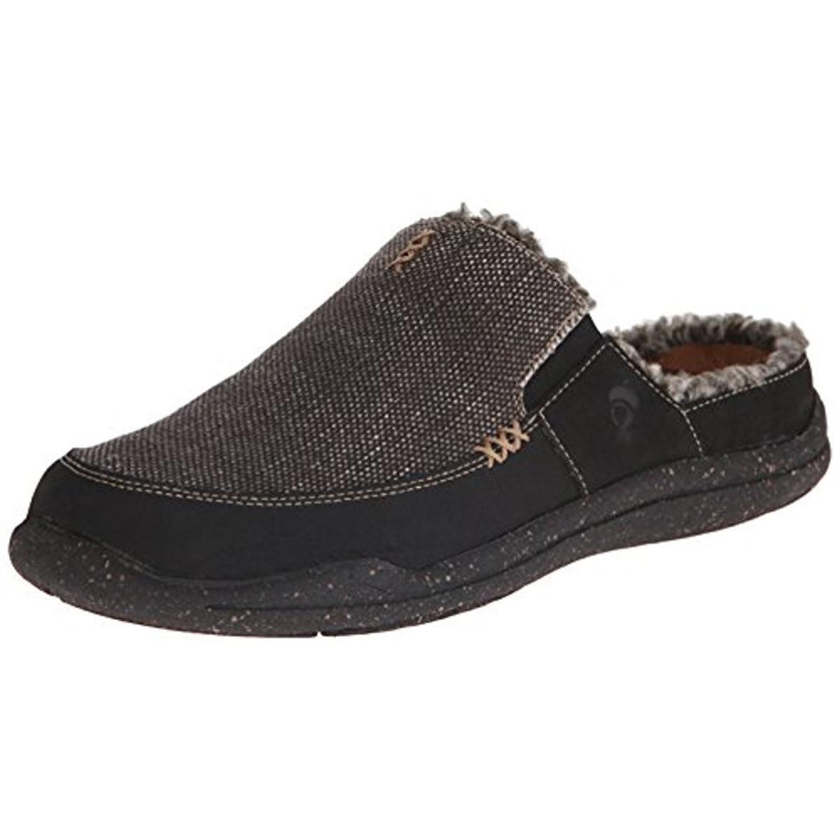 Acorn Mens Wearabout Faux Fur Canvas Mules