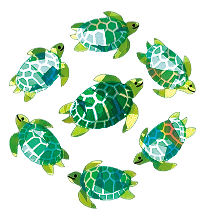 SandyLion Classpak Stickers 3/Pkg-Sea Turtles