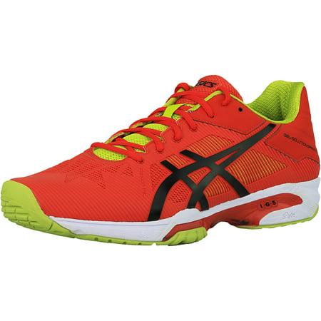 bd6570369f5e Asics - Asics Men s Gel-Solution Speed 3 Orange   Black Lime Ankle-High  Running Shoe - 13M - Walmart.com