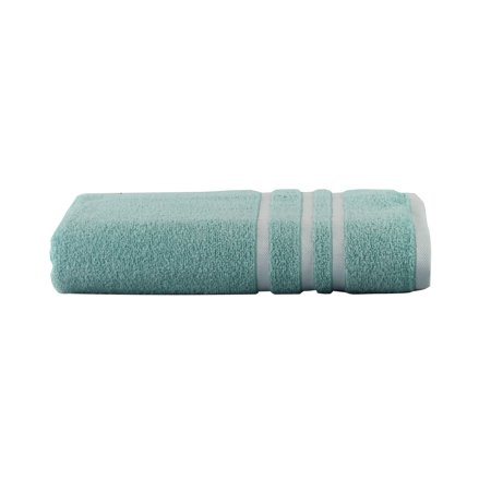 Mainstays Basic Bath Collection - Single Bath Towel, Aqua Stripe