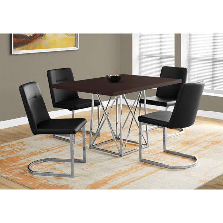 Monarch Specialties Chrome Dining Table