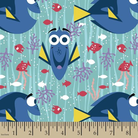 Disney Finding Dory Finding Dory Happy Girl 42/43 Fabric by the Yard