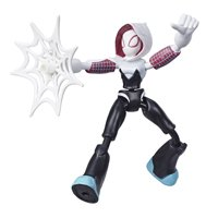 Marvel Spider-Man Bend and Flex Ghost-Spider, 6-Inch Figure, Includes Web Accessory