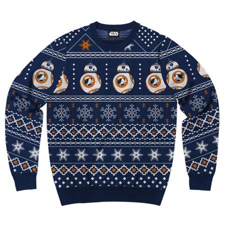 Men's Disney Star Wars Bb8 Droid Ugly Sweater Christmas Sweatshirt