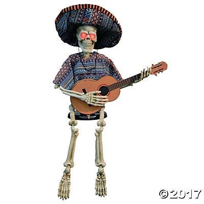 Skeleton Playing Guitar Animated Halloween Decoration Pack of 1 (Halloween Skeleton Playing Banjo)