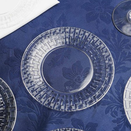 - BalsaCircle 10 pcs Disposable Plastic Round Plates with Basketweave Edge for Wedding Reception Party Buffet Catering Tableware