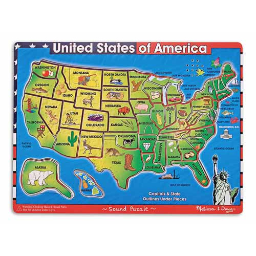 USA Maps Sound Puzzle by Melissa & Doug