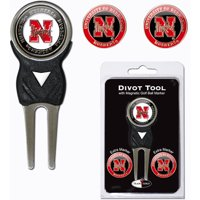 Team Golf NCAA Nebraska Divot Tool Pack With 3 Golf Ball Markers