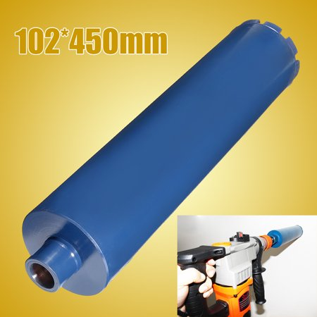 - 4'' Diamond Core Drill Bits Wet Premium Reinforced Bore Concrete Stone Rock