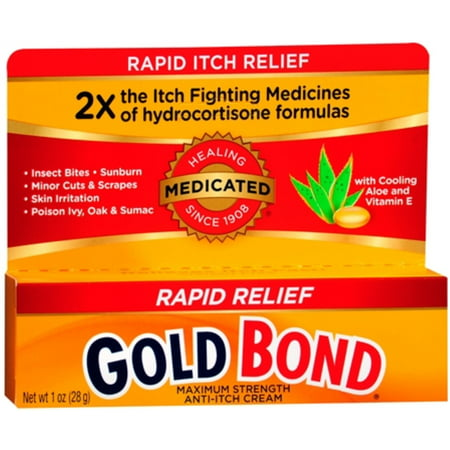 2 Pack - Gold Bond Maximum Relief Anti-Itch Cream 1 oz