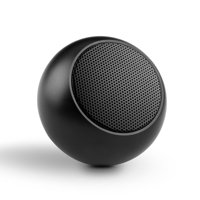 Mini Wireless Speaker with Hands-free Mic Multimedia System Remote Shutter Compact [Black] Compatible With iPad 3 2 G1A