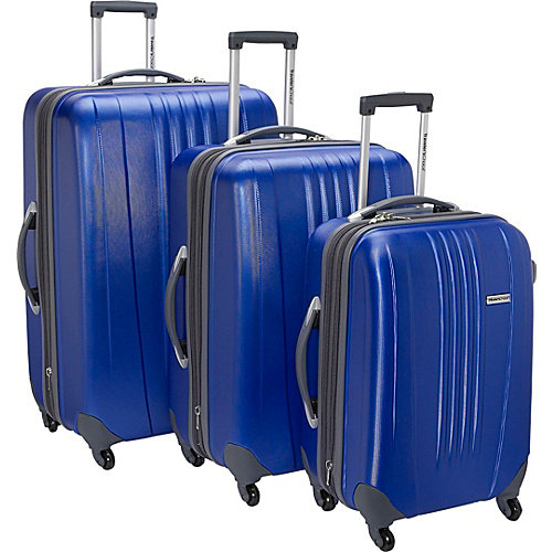 Travelers Choice Toronto 3 Piece Lightweight Expandable Spinner Luggage Set