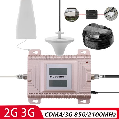 CDMA/3G 850/2100MHz 2G/3G Dual Band Dual LCD Display Mobile Phone Signal Booster Cell Phone Signal Repeater Signal Amplifier Set