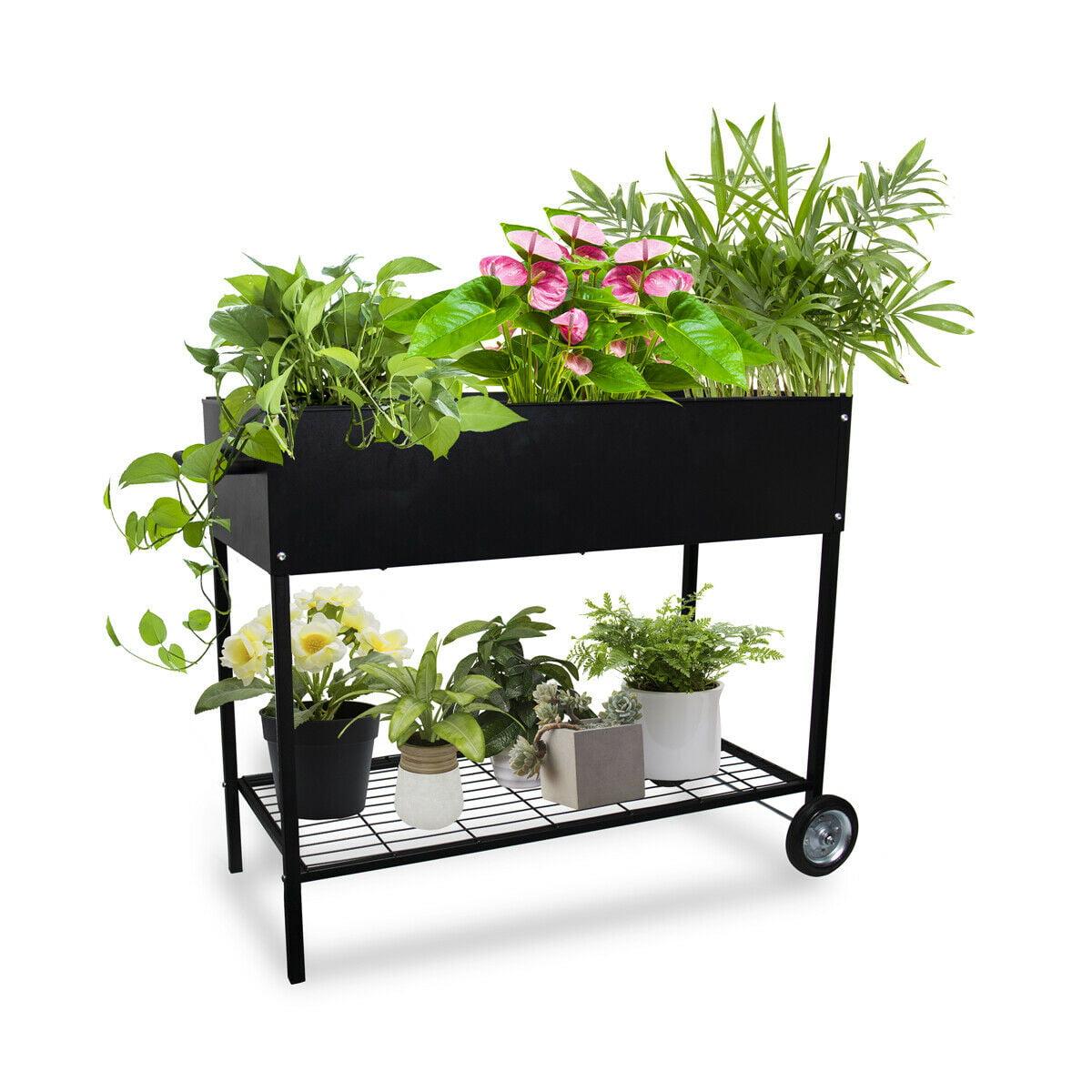 Raised Garden Bed With Legs Outdoor Raised Planter Box On Wheels Elevated Garden Bed For Vegetable Flower Herb Patio Walmart Com Walmart Com