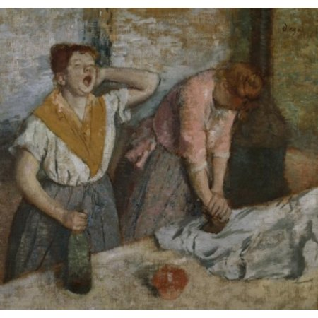 The Ironers  1884  Edgar Degas (1834-1917French)  Musee dOrsay Paris Stretched Canvas - Edgar Degas (18 x 24) ()
