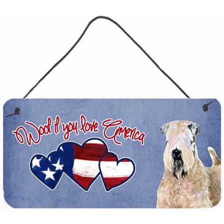 Woof if you love America Wheaten Terrier Wall or Door Hanging Prints SS5004DS612