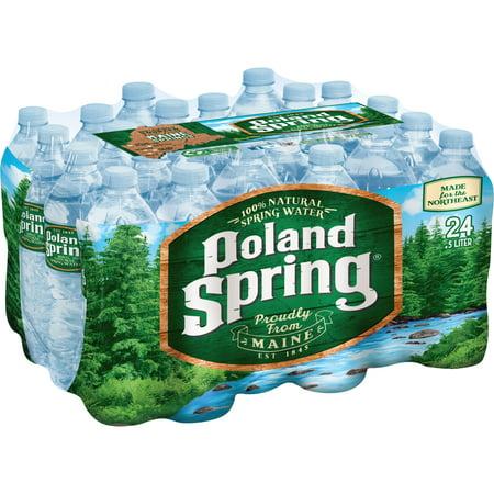 Poland Spring Natural Spring Water, 16.9 Fl Oz, 24 Count