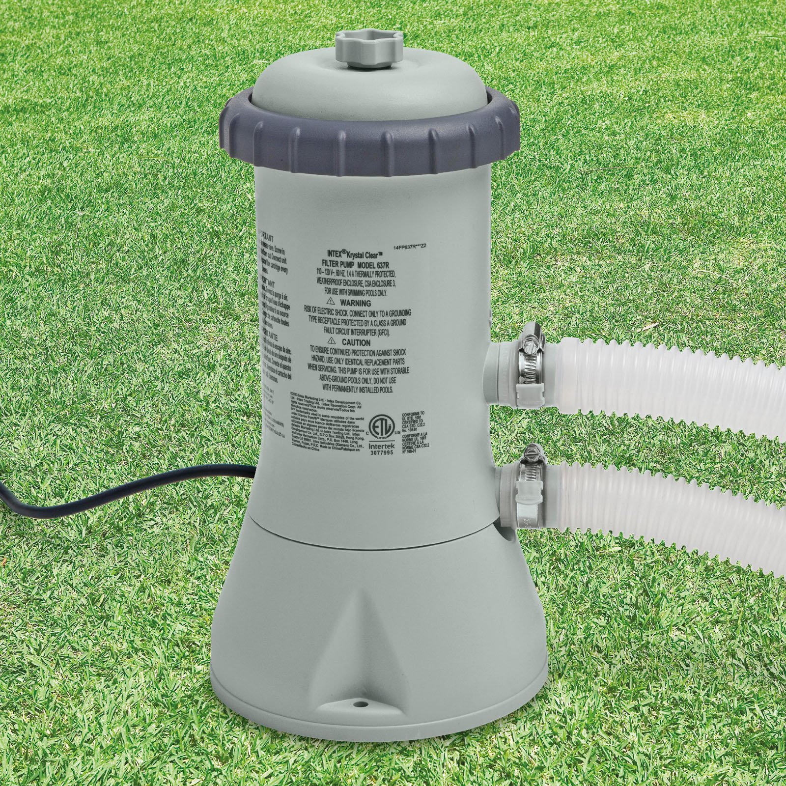 Intex 1,000 GPH Krystal Clear Cartridge Filter Pump For Above Ground Pool by INTEX TRADING LTD