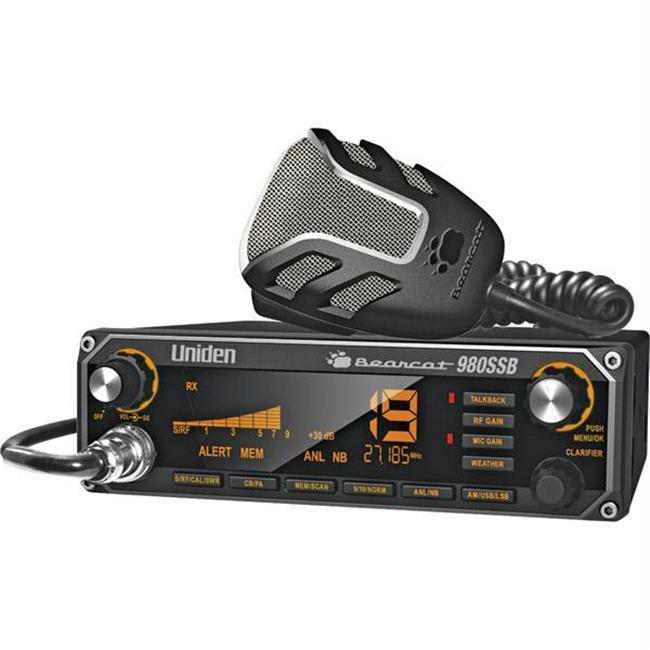 Uniden 40-Channel CB Radio with SSB USB-LSB and Noise Canceling Microphone BEARCAT980SSB by Uniden