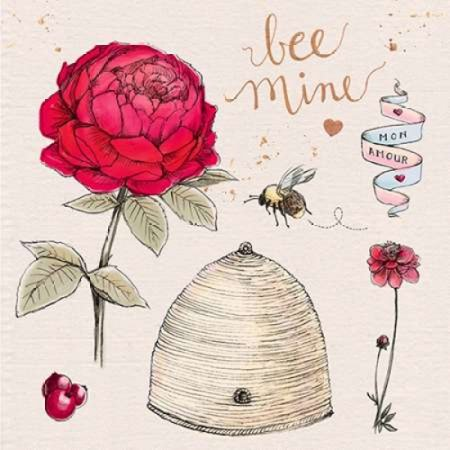 Bee Mine (Bee Mine Poster Print by Kerri)
