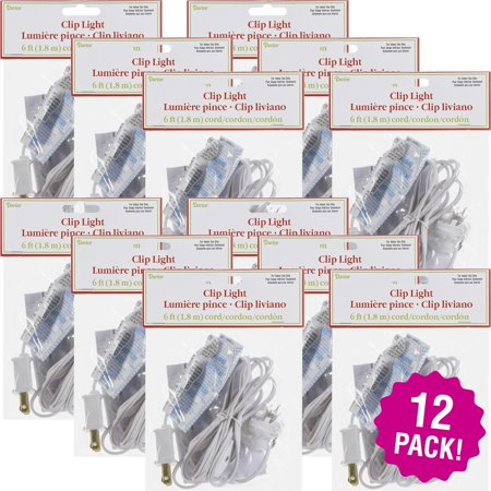 - Designer Single Clip Light 6', Multipack of 12