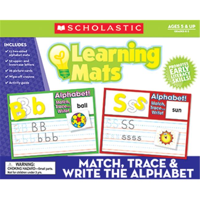 Teachers Friend TF-7107 Match Trace & Write The Alphabet Learning Mats