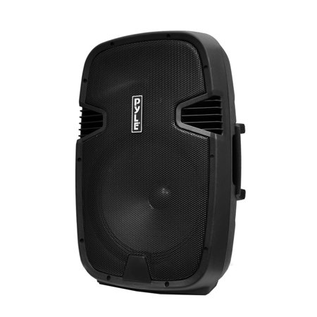 "Portable BT PA Loudspeaker Molded Cabinet Speaker System, 15"" Subwoofer, 5"" Tweeter, USB/SD Card Readers, Guitar & Mic Inputs, FM Radio, 1000 Watt"