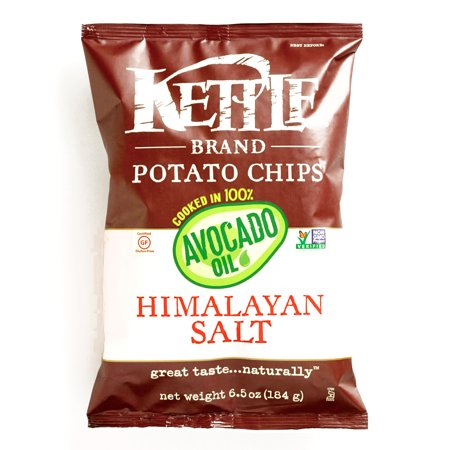 Kettle Brand Himalayan Salt and Avocado Oil Potato Chips  6.5 oz each (6 Items Per Order)